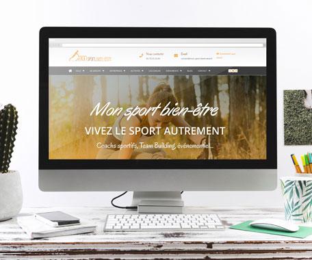 Site Mon Sport Bien-être réalisé par Tell It