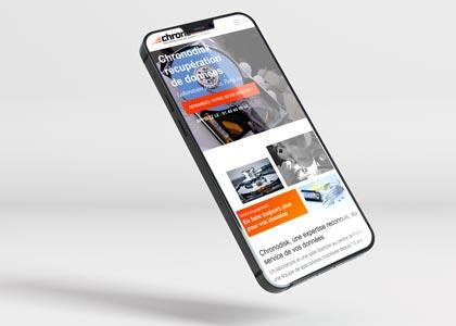 Site Chronodisk sur mobile