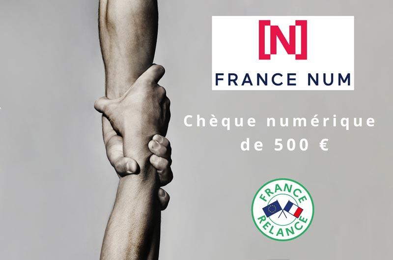 Bénéficiez du chèque numérique de 500€  France Num