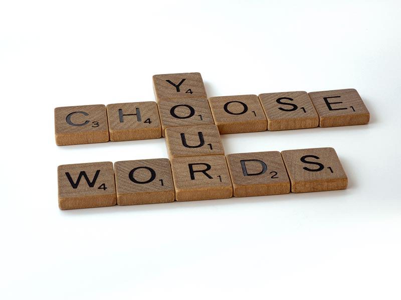 Choisir les bons mots